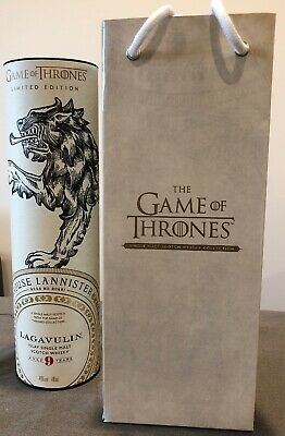 GAME OF THRONES House Lannister Lagavulin 9 Year Single Malt With Gift Bag
