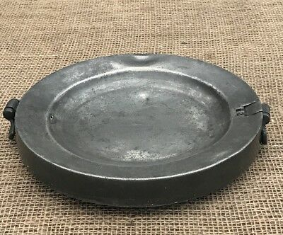 18th Century Pewter Plate Warmer-London Touch Marks