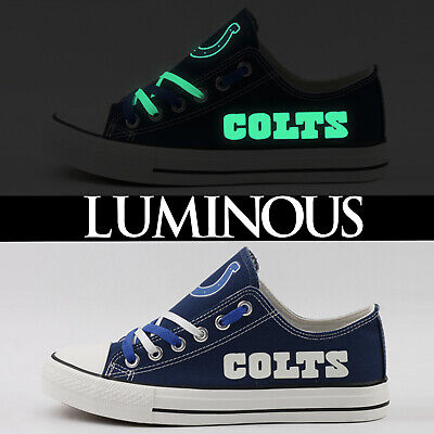 468dcfbf INDIANAPOLIS COLTS MEN'S Women's Shoes Sneakers NFL 2019 Glow In The ...