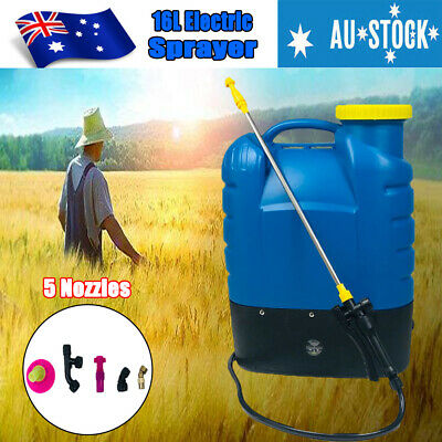 NEW 16L Electric Sprayer Rechargeable Weed Backpack Farm Garden Pump Spray Farm