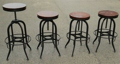 4 REPRODUCTION Toledo Industrial Adjustable Drafting Stools