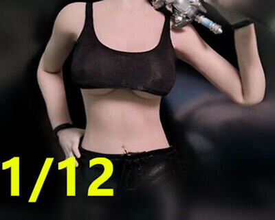 """TBLeague PHICEN 1/12 Female Sexy Black vest Model for 6"""" figure No staining"""