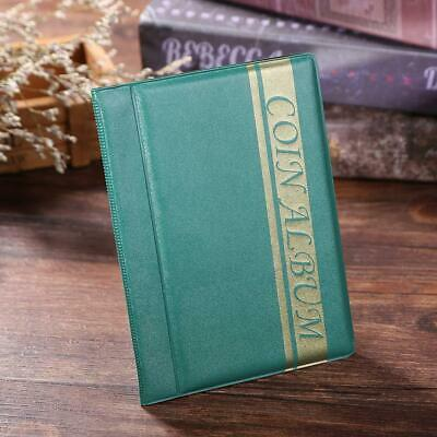120 Pockets Coins Album Collection Book Commemorative Coin Collector Green