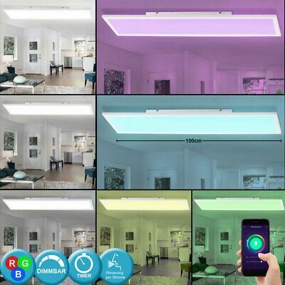 RGB LED Pannello Smart Home Lampada da Soffitto Google Alexa App Cct Wifi