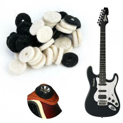 50x Guitar Strap Locks Washer Wool Felt Safety Strap Lock Washer for Guitar Bass