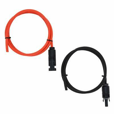 1 Pair Black + Red 12AWG(4mm²) Solar Cable MC4 Solar Adaptor Cable Solar Panel