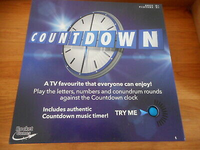 COUNTDOWN BOARD GAME Rocket Games 2014, with Countdown Music