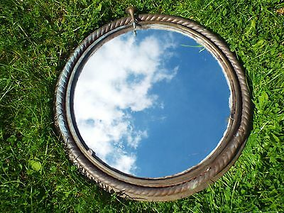 Large Antique Bronze Ships Port Hole Mirror Maritime Architectural Salvage