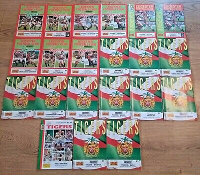 Leicester Rugby Programmes 1984 - 1996