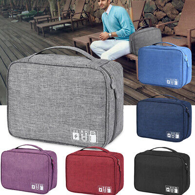 Travel Storage Bag USB Charger Data Cable Cord Electronics Organizer Waterproof