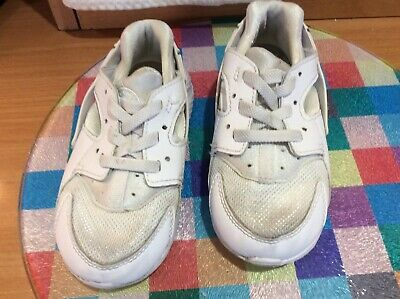 Toddler Nike Huarache White Trainers Uk Infant Size 7.5