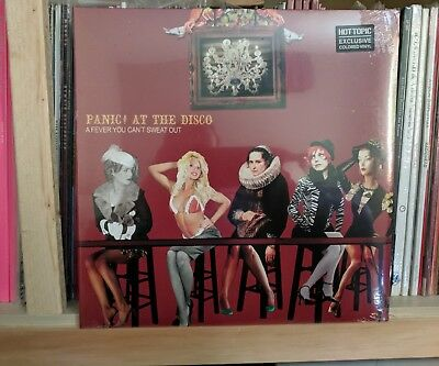 Panic At The Disco - Fever You Cant Sweat Out Vinyl LP Hot Topic Ex COLORED OOP