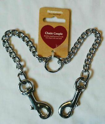 Rosewood extra Strong Dog Training Chain Lead Pet Leash Heavy Duty Padded Handle