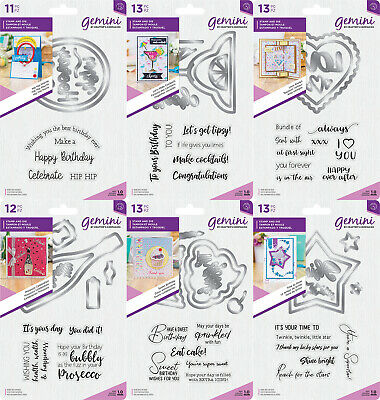 *NEW 2019* Gemini Shaker Card - Stamp and Die Sets by Crafters Companion