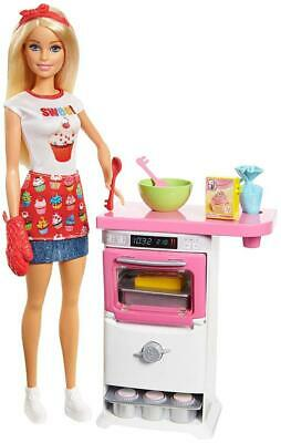 Barbie FHP57 CAREERS Baking Feature Doll and Playset Colourful Accessories,...