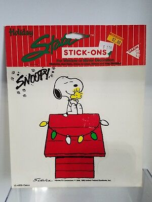 3# VINTAGE SNOOPY AND WOODSTOCK DANKIN STATIC STICK-ONS