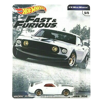 HOT WHEELS 2019 FAST AND FURIOUS PREMIUM '69 Ford Mustang Boss 302 FAST SHIP!