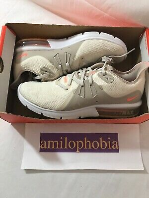 be7e1ac909 New Women's Nike Air Max Sequent 3 Summer Size 10 Light Cream Running Shoes