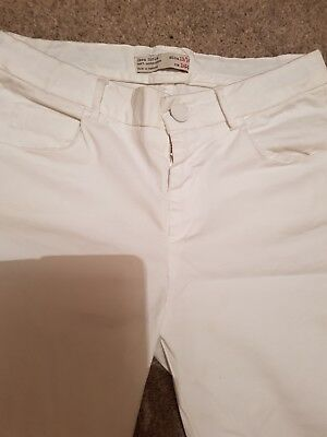 Zara white trousers Size 13-14