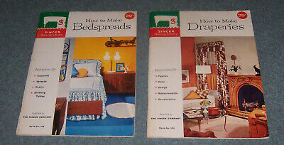 Singer Sewing Instruction Booklets - Lot of 2