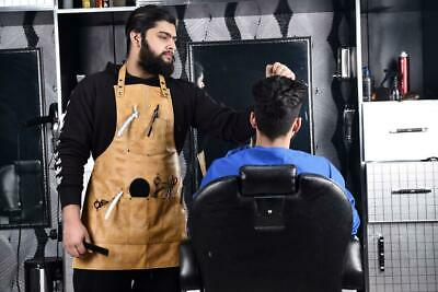 Professional Leather Apron Barber Hairdressing Cutting Hairstylist Salon Cape