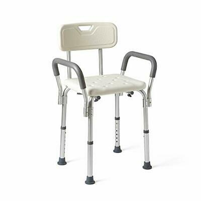 Medline Shower Chair Bath Seat with Padded Armrests and Back,