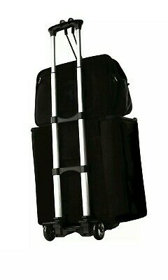 Luggage Compact Folding Cart Travel Suitcase Carrier Wheel Trolley + bungi cord