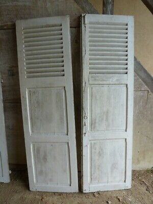 FOUR PAIRS OF ANTIQUE FRENCH OAK SHUTTERS, dating from the 1800s