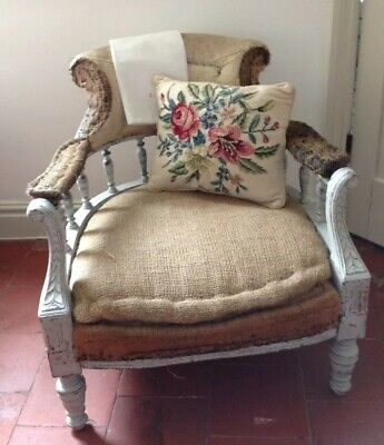 Antique Deconstructed Chair ~ Vintage Chair for Upholstering