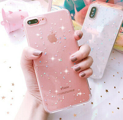Women Bing Glitter Soft Silicone Phone Case Cover For iPhone XR 5s 6s 7 8 Plus X