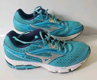 new concept 3cf24 ffba3 Mizuno Wave Legend 3 Womens Blue Running Walking Trail Sneakers Shoes Size 9