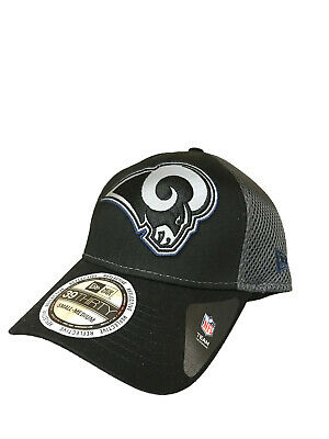 premium selection ab311 c7529 Los Angeles Rams New Era Megaflect 39THIRTY Flex Hat - Black Charcoal