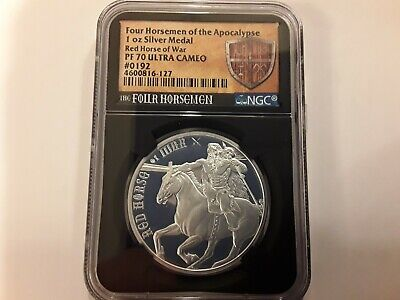 Four Horsemen of the Apocalypse Red Horse of War NGC PF70 Silver Proof