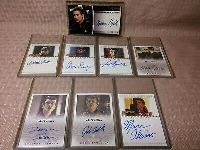 Star Trek Nemesis Autograph Card Lot of 8 Ensign Perim Romulan Pardek Suran