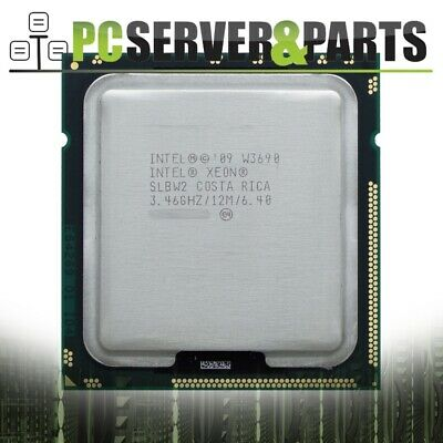 Intel Xeon W3690 SLBW2 3.46GHz 12MB 6.4 GT/s LGA1366 Hex Core CPU Processor
