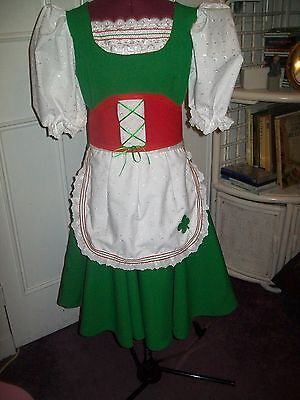 Girls /Ladies Green & Red  Premier  Highland Dancing Irish  Jig  Dress/Outfit