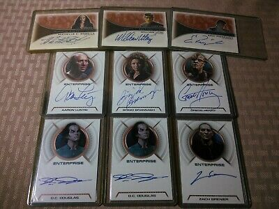 Star Trek Enterprise Autograph Card Lot Rittenhouse aa10 aa12 aa13 A12 A10 A14