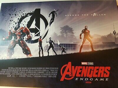 FREE POSTER + Marvel Avengers Endgame ODEON Exclusive A3 Part 2 of 2 captain