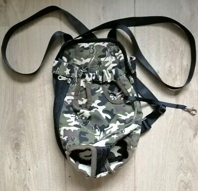 Tail Up Camo Camouflage Small Dog Pooch Pet Front Carrier