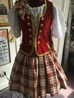 Girls New Highland Dance Aboyne Outfit  with Brooch. £130.