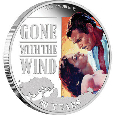 2019 Gone With The Wind 80th Anniversary 1oz Silver Coin