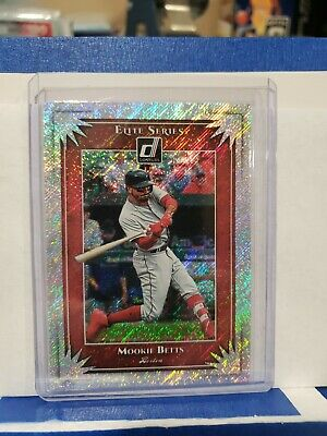 2019 Donruss Elite Series Rapture Parallel ES7 Mookie Betts Boston Red Sox