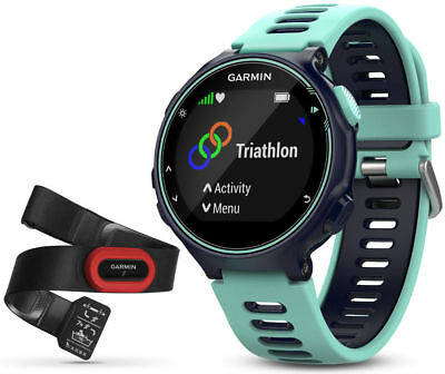 GARMIN Forerunner 735XT GPS Multisport & Running Watch +Heart Rate Monitor, Blue
