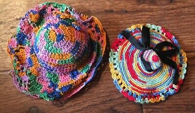 Antique Vintage Handmade Crocheted Hat Needle Book & Pin Cushion