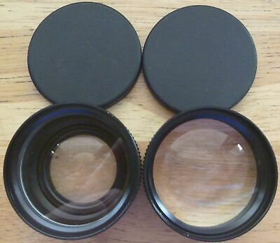 Star-D Auxiliary Wide Angle And Telephoto Lenses For Minolta Hi-Matic Af - Japan