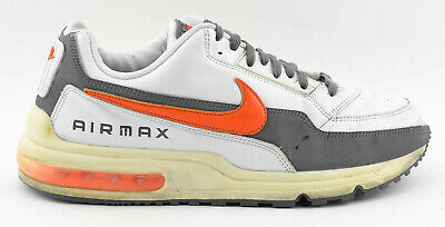 big sale 7a839 fccd3 Mens Nike Air Max Ltd Running Shoes Size 11 White Gray Orange Leather  311000 081