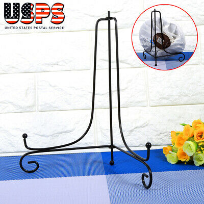 """10"""" Iron Easel Bowl Plate Art Photo Frame Holder Book Rack Craft Display Stand"""