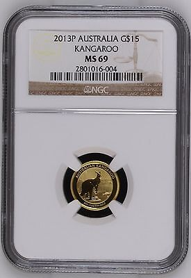 2013 Perth Mint Kangaroo 1/10 oz .999 Fine Gold NGC MS 69 Australian Coin