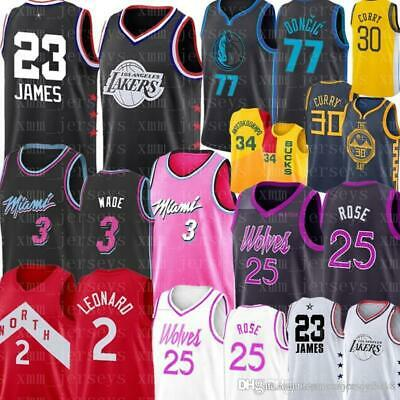 NCAA LeBron 23 James 2019 Men Youth LeBron jersey Luka Dwyane 3 Wade 77 Doncic S