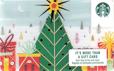 NEW STARBUCKS gift CARD Holiday Christmas Wrapped City House - No value